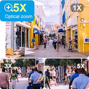 5X motorized zoom