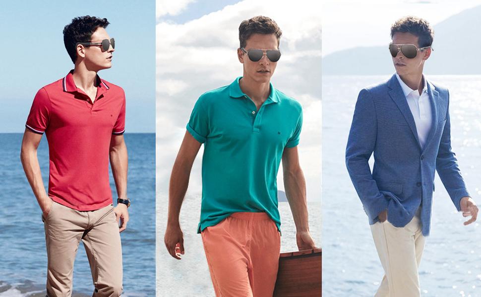 Polarized Sunglasses for Men Fashion Round Sunglasses for Men