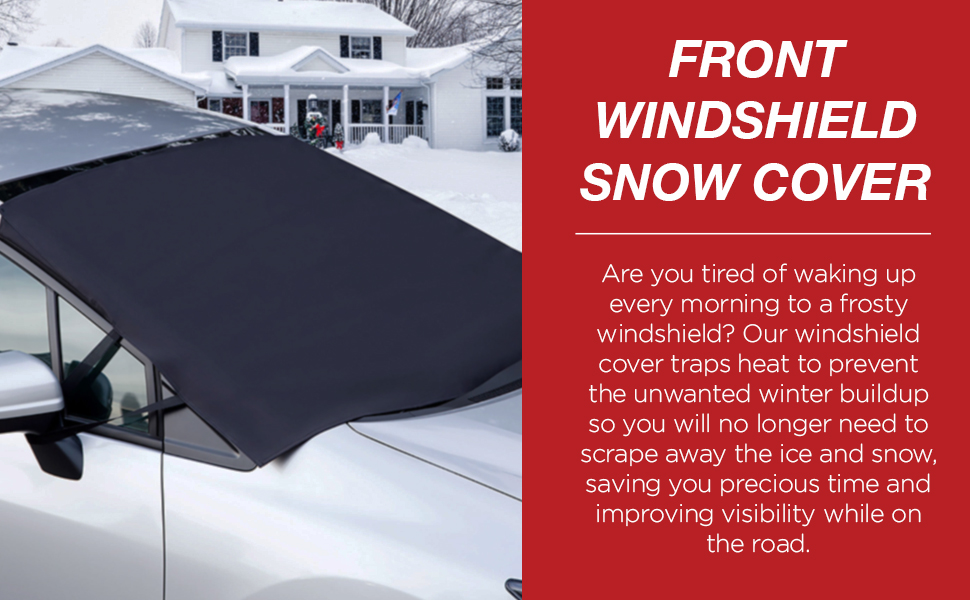 Anti-Snow//Anti-Ice//Anti-Fog Ice Removal Sun Shade for Winter Ice and Snow Frost Protection,Universal Fits for Most Standard Cars,Crvs,Vans Thick and Large JooKrrix Car Windshield Snow Cover