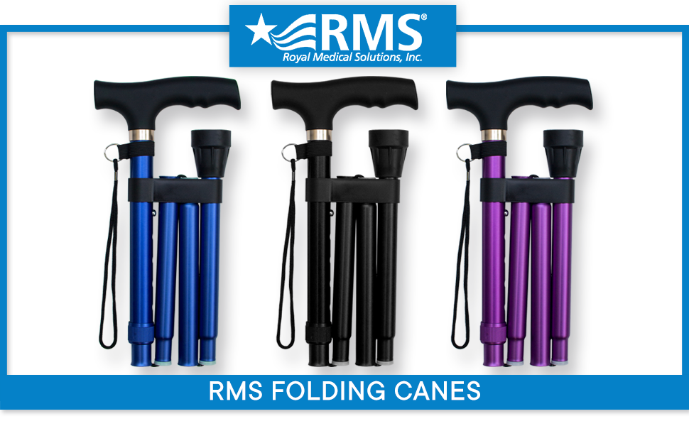 Folding cane for travel, colorful, collapsible