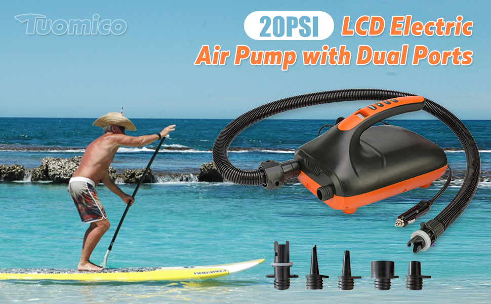 Electric air pump with dual stage