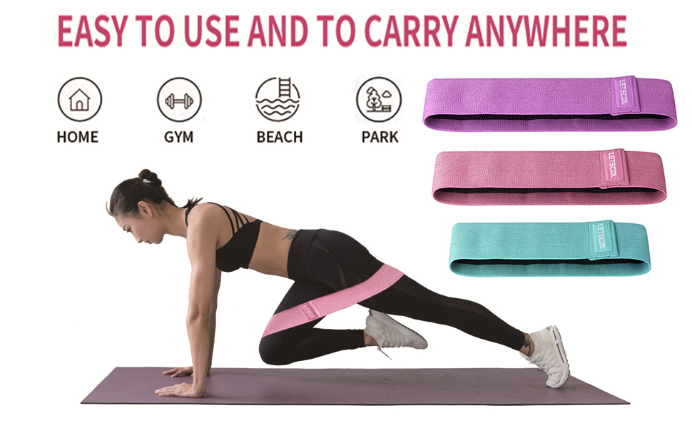 Details about  /US/_ Yoga Fitness Hip Glute Leg Exercise Training Elastic Resistance Loop Band