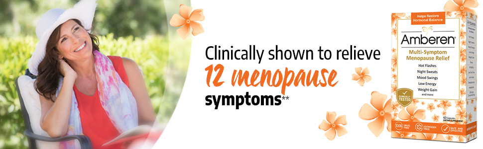 Amberen Menopause Supplement Clinically shown to relieve 12 menopause symptoms and balance hormones