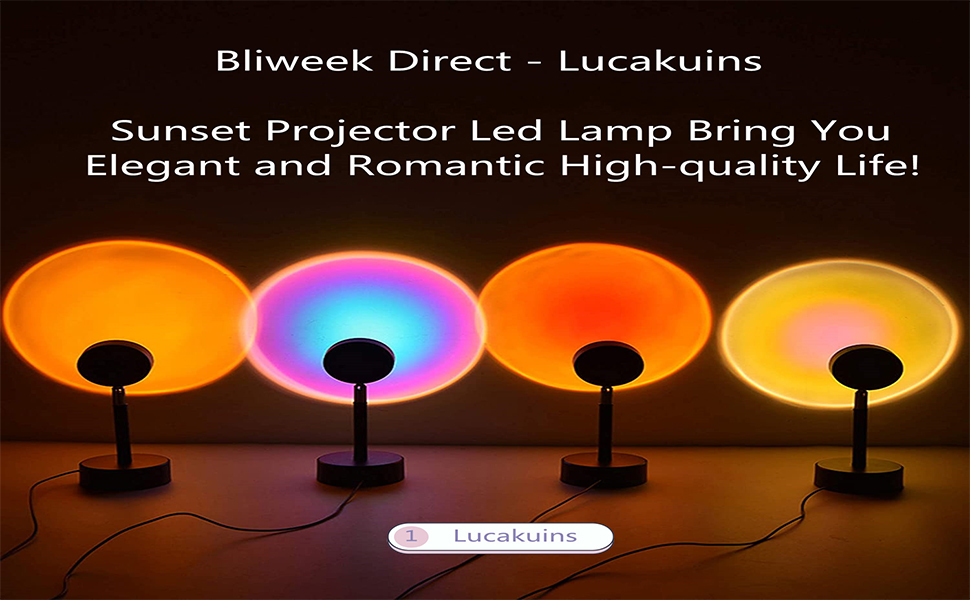 Details about  /3 Modes LED Colorful Night Light Romantic Rainbow Projection High Lamp K2E4