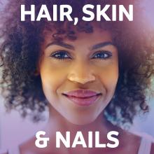 Hair skin and nail health with vitamin c, biotin and zinc