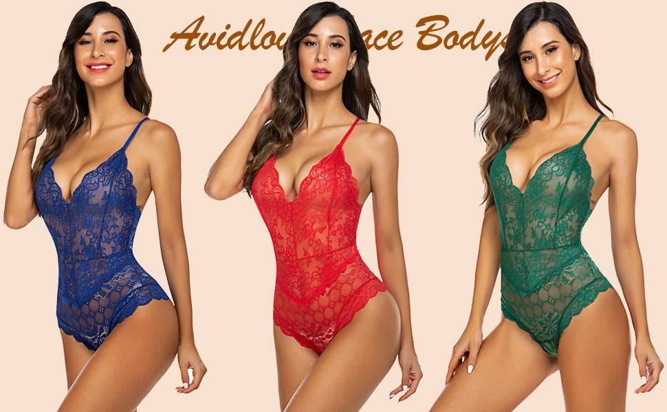 lace bodysuti lingerie for women