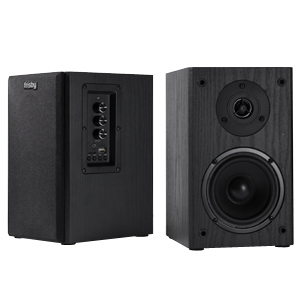 Frisby Audio FS-2000BT Powered Bookshelf Speaker System with 40 Watts and Removable Covers