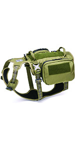 army green backpack harness