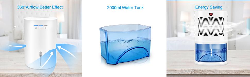 68oz water tank for the dehumidifier