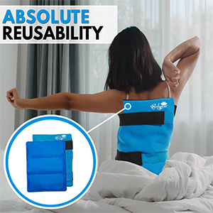 BODYPROX Flexible Large Gel Ice Pack for Shoulders, Arms, Back and Thighs. Hot & Cold Therapy Wrap