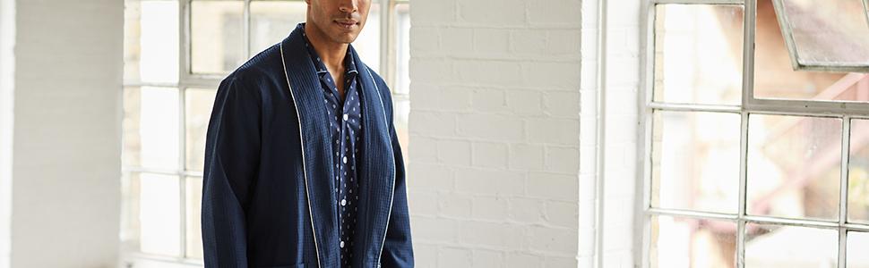 men's dressing gown lifestyle lightweight cotton 100% quality mens for men summer spring autumn