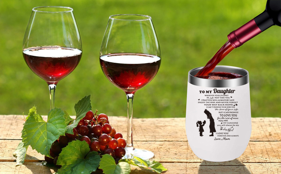 sip moscato wine oh personal tumbler vinglace stemless premium tennis wine glass goblet  togo cup