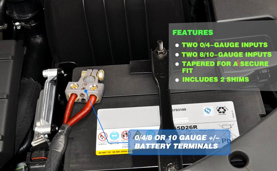 Amazon.com: SUNMORN Battery Terminal Connector, 0/4/8/10 ...