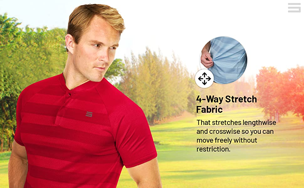 4-way stretch fabric so you can move in any direction without restriction.