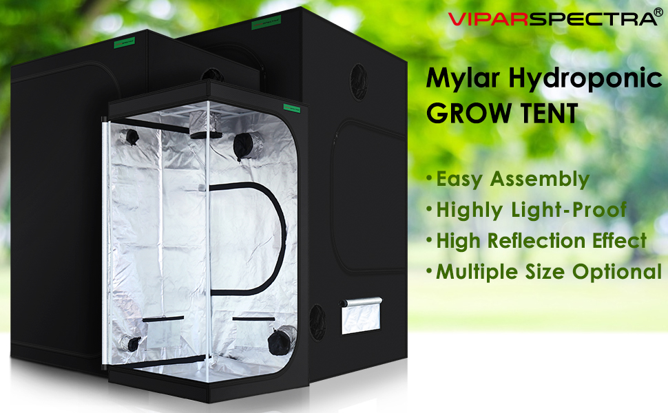 VIPARSPECTRA 36quot;x36quot;x72quot; Reflective 600D Mylar Hydroponic 3'x3' Grow Tent for Indoor Plant Growing