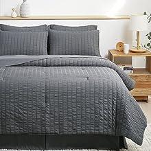 Bedsure Seersucker Bed in A Bag Comforter Sets