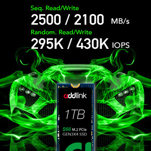 addlink S68 1TB NVMe PCIe Gen3x4 M.2 2280 SSD high performance Internal Solid State Drive