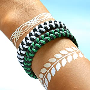 DearAnswer Cute Double Layer Turtle Compass Rope Bracelet Geometric Shape Hand Woven Braided Bracelet for Christmas Birthday Present