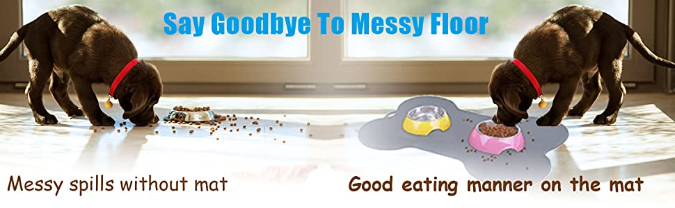 Say goodbye to messy floor