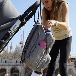 Borsa Fasciatoio Bambini CARRELLO BORSA CON IMPERMEABILE fasciatoio sottoposto Baby Borsa Argento