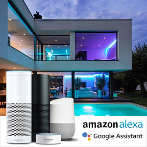 Lepro 10M 36W Tiras LED 16 Millones RGB, Luces de Tira Control Remoto y APP Inteligente, Tira LED WIFI (Solo 2,4 GHz) Compatible con Alexa/Google Home, Decoración para Habitación, Dormitorio, Cocina: Amazon.es: