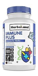 herbaland gummies vitamin supplement vegan collagen plant-based immune boost elderberry echinacea