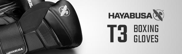 Image of Black Hayabusa T3 Boxing Gloves