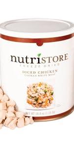 freeze dried meats chicken storage supply