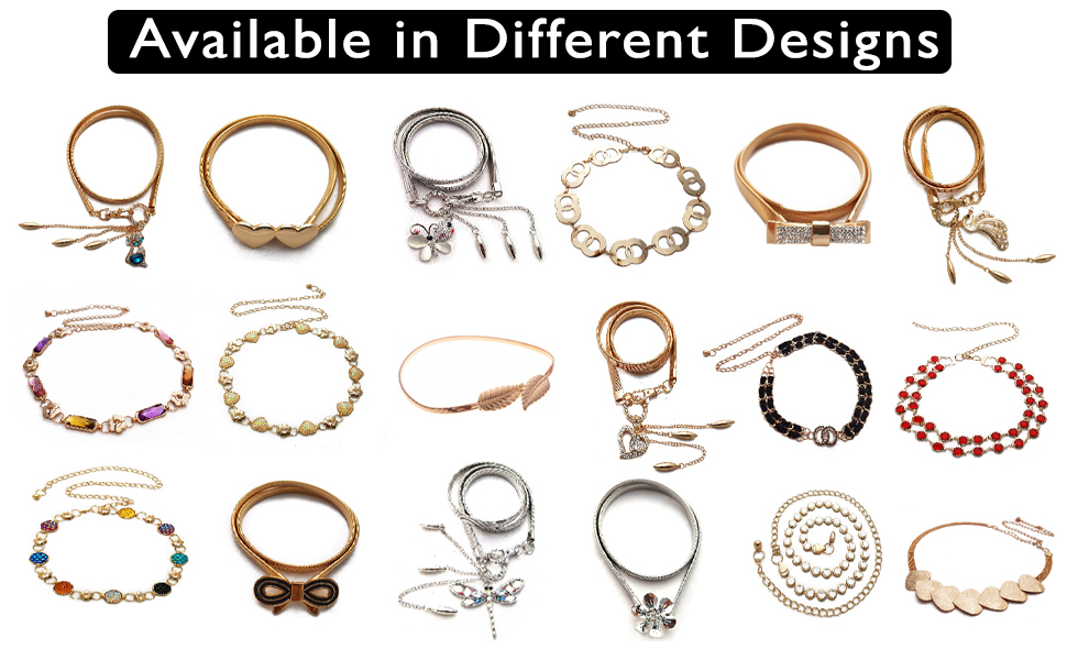 belly belt chain chain kamarband hip jewellery dress metal golden crystal waist kamardhani saree