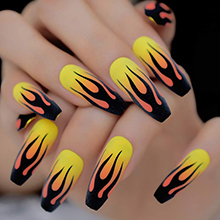 Ballet nail art effect 2
