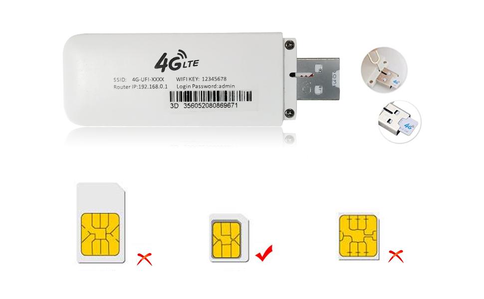 4G WiFi Modem LTE Mobile Hotspot USB Dongle