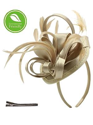 Gold copper Christmas Fascinator Gold fascinator Hat Headpiece Winter Bride Wedding Ladies Day Races gold Fern Leaf Wreath Headband Tiara
