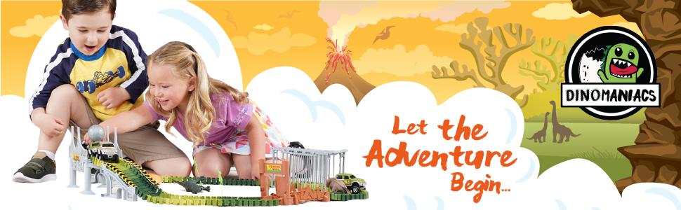 dinosaur toys jurassic park world train for kids race tracks age 3 4 5 6  juguetes para niños stem