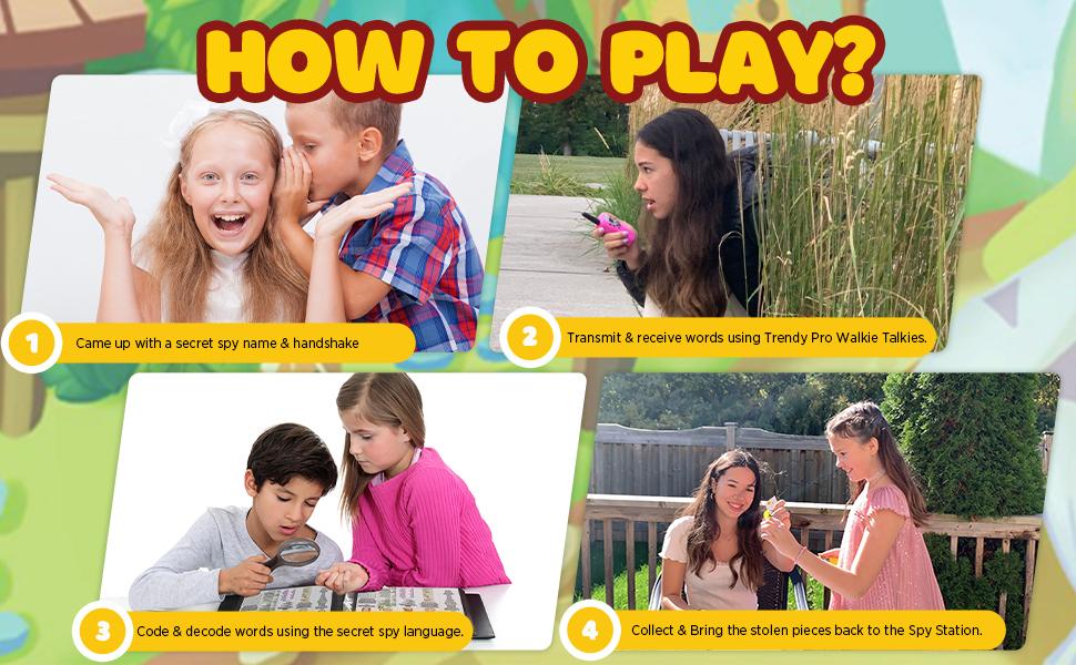 kids board games scavenger hunt game for kids kids spy walkie talkies kids outdoor game walkie talk
