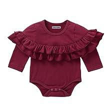 maroon baby girl bodysuit