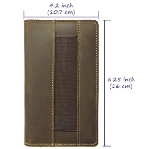 slim pen holder no bulge compact size pocket notebook passport cover for travel easy access on site