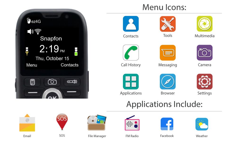 snapfon, snapmobile, mobile, sos plus, plans, ez-4g, wireless, 4g, senior phone plan, snapfon-ez-4g