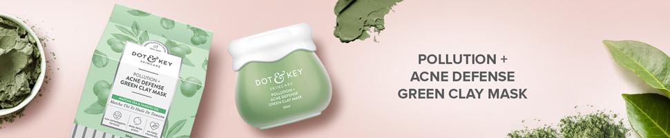 clay mask, green clay, acne mask, matcha tea, detoxifying mask, pollution