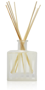 LOVSPA Modern Luxury Striped Frosted Glass Reed Diffuser Bottle with sticks. Home Air Freshener