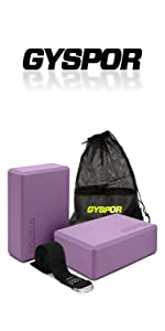 yoga blocks 2 pack with strap purple pink