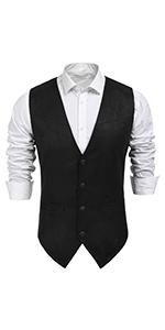Suede Leather Suit Vest