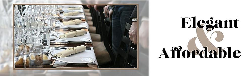 American Pillowcase Hemstitch Dinner Napkins Set of 12 - Ivory - One Dozen  Elegant Cloth 12 Pack