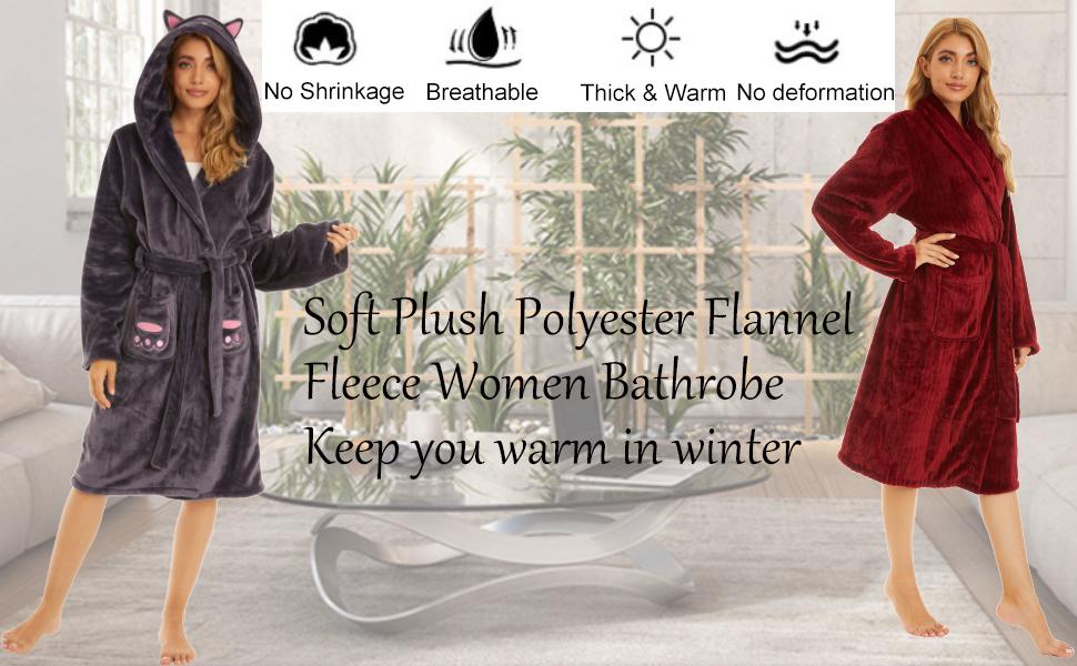fuzzy robe for women bathrobe womens robe womens bathrobe womens robes plush women's robes plus
