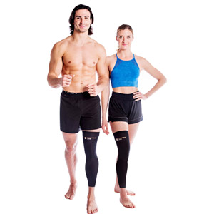 Compression full leg recovery sleeve for men and women soft durable stylish full leg knee recovery