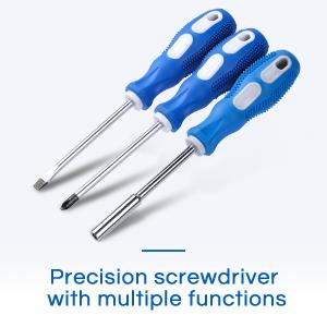 Three Types of Screwdrivers