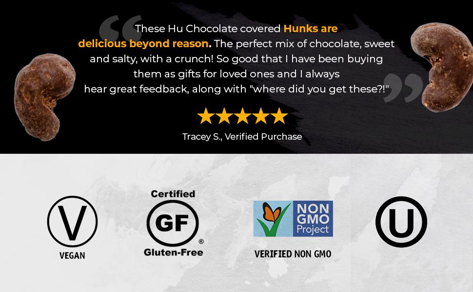 hu hunks chocolate covered raisins vegan paleo non gmo dairy free soy gluten cocoa snacks kitchen