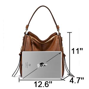 mittelgroß braun damen handtasche viele innenfächer damen tasche leder