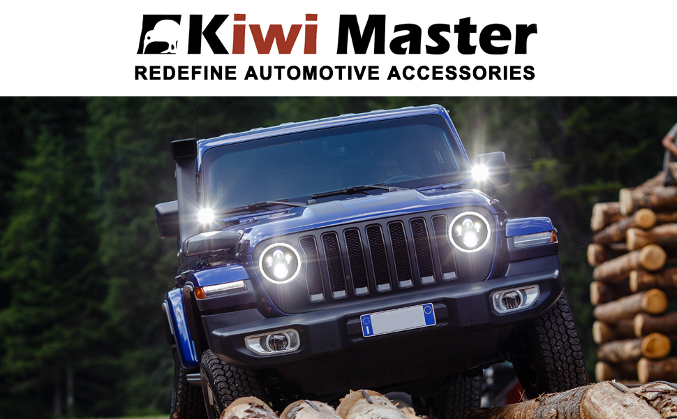 Halo Lights For Jeep Wrangler >> Kiwi Master 9 Inch Round Led Headlights Halo Drl For 2018 2019 Jeep Wrangler Jl Accessories High Low Beam Headlight With Daytime Running Lights New