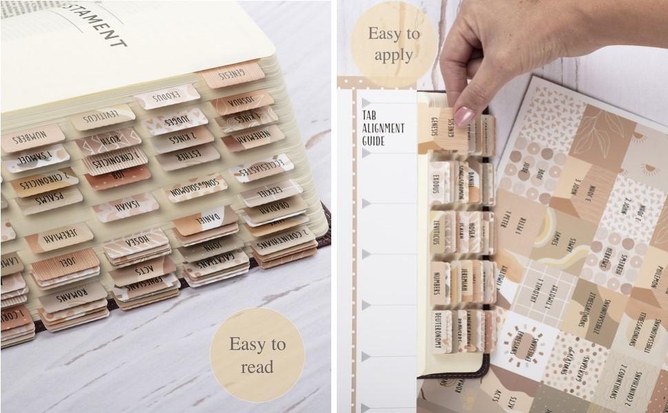 Laminated bible tabs journaling supplies