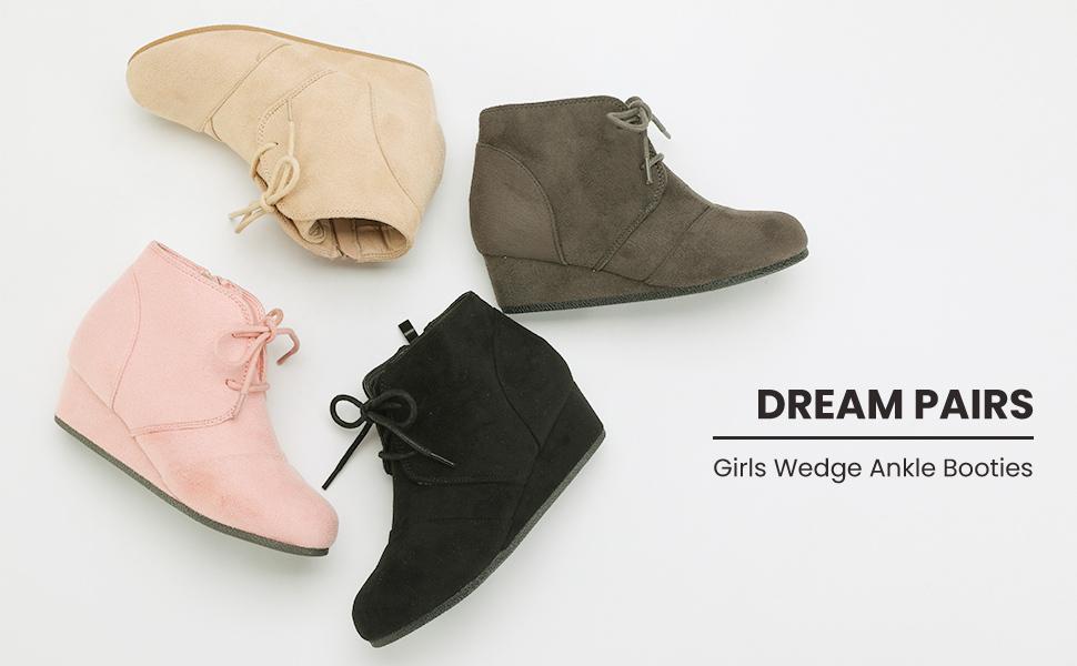 DREAM PAIRS Mädchen Tomson k Keilabsatz Stiefeletten: Amazon